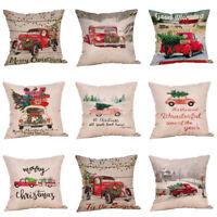 2020 Christmas Sofa Car Throw Cushion Cover Pillow Case Home Decor Pillowcase