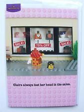 Lego joke Birthday card by Hallmark (Loses head in sales joke) - 10908426