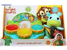 NEW Bright Starts Baby Jammin Jungle Toy Newborn Gift Set with Lights & Sounds