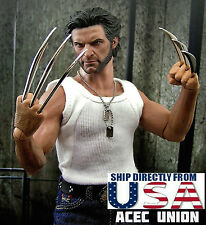 1/6 Metal Claw Hands Realistic Hair Fist Steel Talons For Hot Toys Wolverine USA