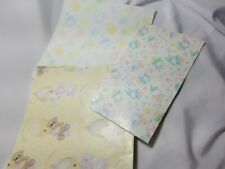 Lot Of 3 Vintage Wrapping Paper For Baby Shower Precious Moments and other A7
