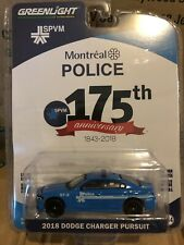 Greenlight  Anniversary Series 2018 Dodge Charger Pursuit Montreal Police