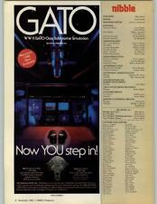 GATO WWII Submarine Simulation IBM Apple II Computer Game 1985 Print Ad