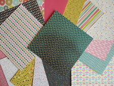 "Pick n Mix 6x6"" Scrapbook Papers 16 sheets bright some glitter"