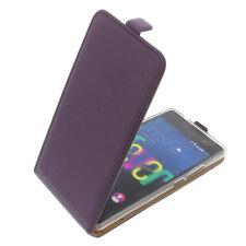 Funda para Wiko Fever 4g protectora Teléfono Móvil con Tapa Carcasa Púrpura