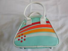 Blue iDog Carrying Case Purse with White, Orange, and Red Stripes