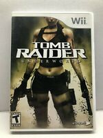 Tomb Raider: Underworld (Nintendo Wii, 2008) Complete w/ Manual - Tested Working