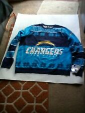 NFL Team Apparel Mens Sweater Ugly Christmas Sz 2XL San Diego Chargers Blue New