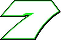 CLEARANCE!! - NEW FOR 2018 #7 Danica Patrick Go Daddy Racing Decal - CLEARANCE!!