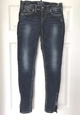 Silver Womens AIKO  MID SKINNY Jeans    size: W24/L29