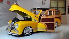 1:24 Maßstab 1948 Chevrolet Fleetmaster Hot Rod Custom Woody Druckguss Modell