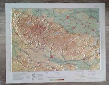 Reliefkarte Harz, alt 1962 DDR 1:250000