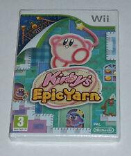 Kirby el Epic Yarn-Juego De Wii-Nuevo y Sellado