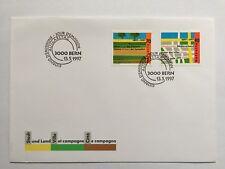 Enveloppe 2 timbres suisses CH1544/1545,Zum CH920/921 Ville et campagne