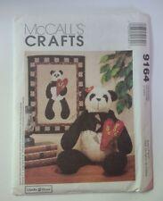 "McCall's 9164 22"" Panda and Quilt Vanilla House"