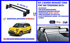 Barre Portatutto Portapacchi Acciaio - Fiat 500 L Trekking 2015> 5p Menabò Tema