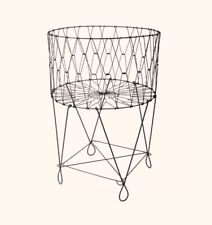 Wire Laundry  Large Basket Hamper Clothes Holder Underwear Socks Space Saver NEW