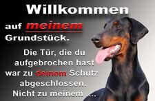 Dobermann Alu A4 Warnschild DB10