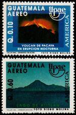 ✔️ GUATEMALA 1991 - UPAEP VULCANOS GEOLOGY - MI. 1321/1322 ** MNH OG [101.035]