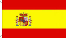 More details for 8' x 5' spain flag spanish state crest large funeral coffin drape