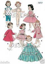 """7973 Vtg Doll Clothes Pattern 16-17"""" Saucy Walker Posie"""
