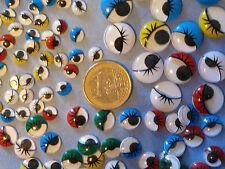20 yeux mobiles couleurs assorties 3 TAILLES AU CHOIX ! mercerie scrapbooking