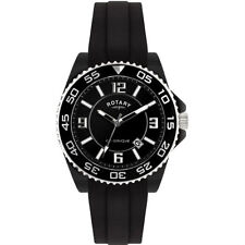 Rotary Ceramique Quartz Watch Black Dial Analogue  and Black Rubber Strap CEBRS/