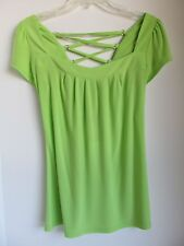 WRAPPER Women's Sz M Shirt Top Open-Back Blouse w/Laces Show off Summer Tan! NWT
