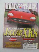 ROAD & TRACK MAGAZINE MAY 1996 JAGUAR XK8 MERCEDES BENZ C280 SPORT BMW 328I CAR