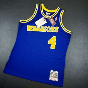 100% Authentic Chris Webber Mitchell Ness 93 94 Warriors Jersey Size 44 L Mens