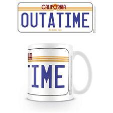 Back To The Future - License Plate Mug x 2 Brand New (Set of 2 Mugs)