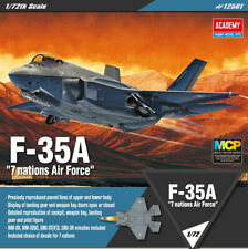 1/72 SCALE F-35A 7 nations Air Force #12561 ACADEMY HOBBY MODEL KITS