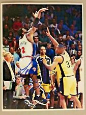 Larry Johnson Hand Signed Knicks 4 Point Play vs Pacers 8x10 photo