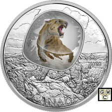 2018 Scimitar Sabretooth Cat -Frozen in Ice' Prf $20 Fine Silver Coin(18512)(NT)
