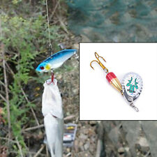 Fishing Lures Artificial Bait Metal Bionic Tackle Rotate Sequins Spinner EP