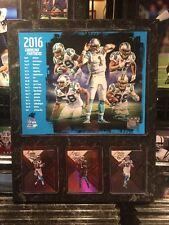 Carolina Panthers 12x15 PLAQUE 8X1O PHOTO 3 CARDS Cam Newton Olsen Ginn