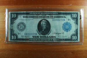 1913 $10 Federal Reserve Bank Note
