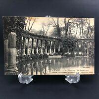 VTG RPPC Postcard Paris Parc Monceau Corinthian columns Chapelle des Valois
