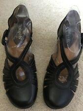 Womens SOFTSPOTS 'Sally' Black Leather Pumps Shoes Sandals  SIZE 6 M NIB $84.95