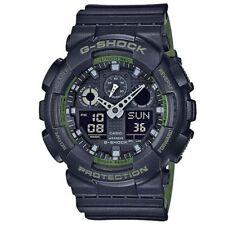 New G-Shock GA100L-1A Men's Analog Digital X Large Black / Green Watch