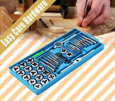 40 pc Plug Tap and Die Set Kit Metric Screw Thread with Plastic Case