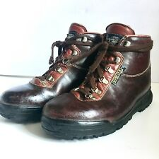 VASQUE Vintage HIKING BOOTS Leather GoreTex Made in ITALY RED WING Sz 8 M SHOES