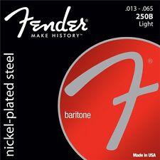 Fender 250B Nickel Plated Steel Light Gauge Baritone Guitar Strings 13-65