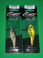 CRD Crankbait Grappler Shad Fancy & Crawdad Chartreuse Belly (2 Pack) Cordell