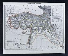 1847 Flemming Map Asia Minor Turkey Iraq Syria Constantinople Damascus Jerusalem