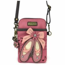 NEW CHALA PINK BALLERINA SLIPPER CELL PHONE CROSSBODY PURSE ADJUSTABLE STRAP