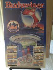 Vintage Baseball 1992 NY Mets  Genuine Game Schedule Budweiser Orig Promo Poster