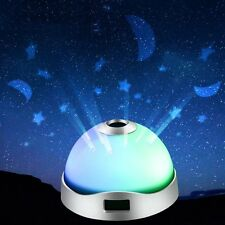 Night Light Projector Lamp Novelty 360 Rotating Round Star Moon Sky Gift Child