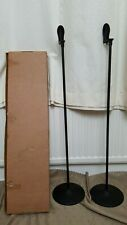 boxed PAIR black METAL speaker STANDS For Tannoy FX