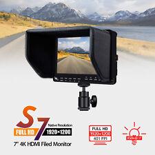 "S7 Camera 4K HDMI Monitor Video TFT Field 7"" inch DSLR LCD Monitor 450cd/m² 16:9"